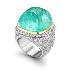 'Mozambique' tourmaline and diamond ring by Theo Fennell