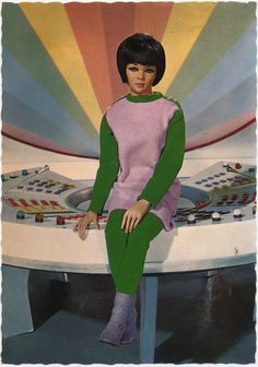 "mudwerks: "" Captain Scarlet and the Mysterons, Harmony Angel Dutch postcard by Gebr., Rotterdam, no. Photo: Century 21 Ltd., Caption: Harmony Angel in the head quarter. Turner Classic Movies, Classic Tv, Old Cartoon Movies, Joe 90, Thunderbirds Are Go, Kids Tv, Vintage Prints, Pink And Green, Scarlet"