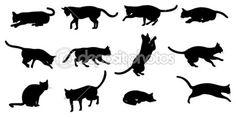 Silhueta de gato — Ilustração de Stock #16643905                              …                                                                                                                                                                                 Mais