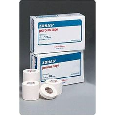 ZONAS Athletic Tape Porous Size: 1½ x 15 yd. Unit: 32  ZONAS Athletic Tape Porous Size: 1½ x 15 yd. Unit: 32 - ZONAS Athletic Tape - Preferred for strains, sprains, & conditions requiring immobilization & support. Pinked edges tear easily, lengthwise & crosswise. Achieves good mass anchorage. Specially formulated, rubber - based adhesive, exceptionally strong yet gentle to skin.**Caution: This product contains natural rubber latex which may cause allergic reactions. - Rolyan products.