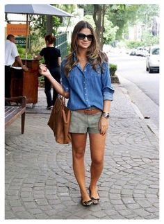 summer outfits women over 40 shorts