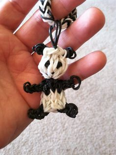 Loom Band Panda Bear Charm.