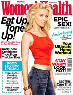Women's Health Magazine [South Africa] (August 2013) Amber Heard