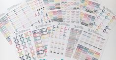 Hey everyone, several people asked me about the stickers I used in my Mini Happy Planner for my fitness journey, well I decided to make a ra...