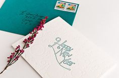 Champagne Toast Letterpress Cards by brooklynbookbinder on Etsy