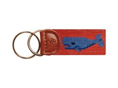 Whale Needlepoint Key Fob | Smathers & Branson