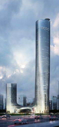 Dacheng Financial Business Center Tower, Kunming, China :: height 297m [Future Architecture: http://futuristicnews.com/category/future-architecture/] ☮k☮ #architecture