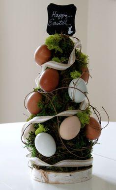 Easy DIY Easter Egg Topiary --> http://www.hgtvgardens.com/easter/heirloom-easter-egg-topiary?soc=pinterest