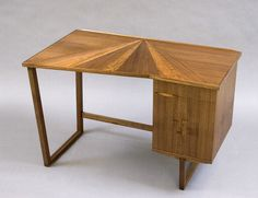 Michele Diener is a local LA furniture designer.  This is her gorgeous handcrafted desk made from English Walnut.