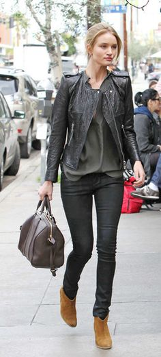 Rosie Huntington-Whitely in Dicker boots by Isabel Marant