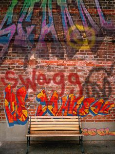 """My Digital Graffiti Wall ( brick wall """"base photo"""" from here )  My students love graffiti; they have been clamoring for me to teach a graffi..."""
