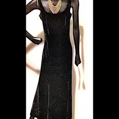 Velvet gown with wonderful drape and grace With its shapely style, widening at the bottom. Waiting for that special occasion! Dresses Maxi