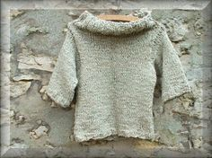 Silver Handknit Jumper  Pale Knight Romantic Original by Shalotte, £70.00