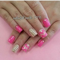Love the pink and beige together