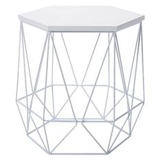 Living & Co Hexagon Side Table White