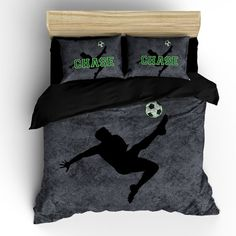Custom Grunge Soccer Bedding Personalized with your by redbeauty