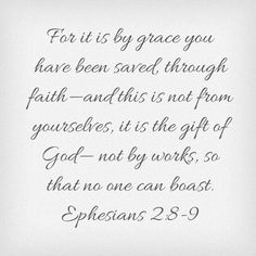 Week Two Unglued: For it is by grace you have been saved through faith - and this is not from yourselves, it is the gift of God - not by works. So that no one can boast. Ephesians 2:8-9