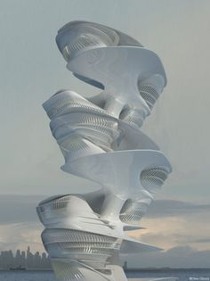 """Hybrid Hotel in Dubai is Inspired by Singing Dunes Phenomenon seen on evolo 