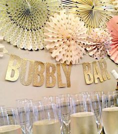 Wedding Banner Bachelorette Banner Gold Glitter Letter Banner Bubble Bar Candy Bar Champagne Bar Mimosa Bar Bridal Shower Decoration Sign by weddingbr Champagne Bar, Bubbly Bar, Mimosa Bar, Outdoor Bridal Showers, Disney Bridal Showers, Gold Bridal Showers, Glitter Letters, Gold Glitter, Bachelorette Banner