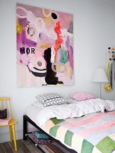 Made Her Look: Bright and Colorful Abstract Art: I Love This Look!