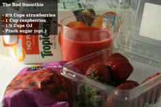 Fitness smoothies. Great ideas.