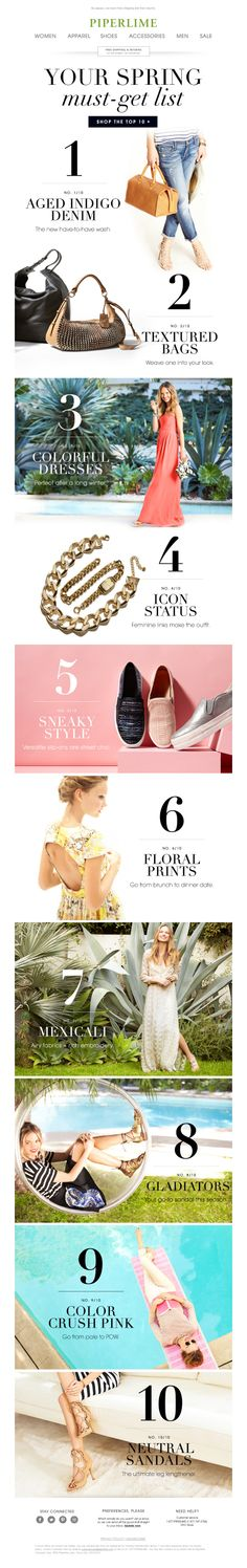 PiperLime Spring Email Email Newsletter Design, Newsletter Layout, Email Layout, Newsletter Ideas, Web Layout, Awesome Screenshot, Banners, Email Design Inspiration, Layout Inspiration