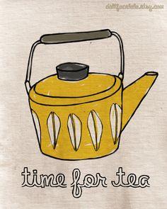 tea time print from dollfacelala etsy