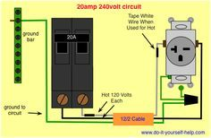 wiring diagram for a 30 amp, 240 volt circuit breaker | Electrical ...