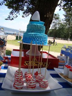 Nautical Birthday Party Ideas | Photo 5 of 29 | Catch My Party