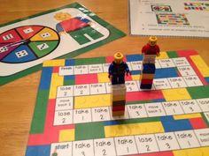 FREE Math Building Block Fun game that uses Legos!!!