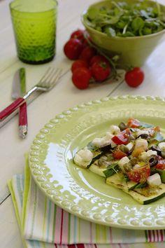 Cinco Quartos de Laranja: Salada de curgete com queijo de cabra