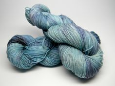 Sail Away - HipHop Monkey fingering weight hand painted sock yarn blue teal navy water sky by DyeMonkeyYarns on Etsy