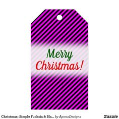 Simple Fuchsia & Black Stripes Pattern Gift Tags created by AponxDesigns. Christmas Gift Tags, Merry Christmas, Black Stripes, Simple, Pattern, Cards, Merry Little Christmas, Patterns, Wish You Merry Christmas