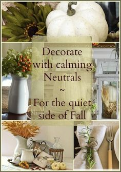 Neutral Fall Decor ~ 5 bloggers show the quiet side of Fall Get ideas & Inspiration!