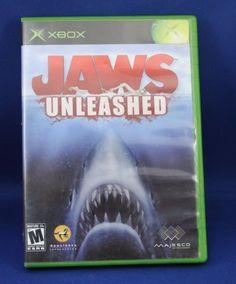 Video-Game-Disc-Jaws-Unleashed-Microsoft-Xbox-2006-No-Manual-NTSC-Original-Box