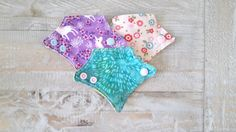 Set of 12 ULTRATHIN Cloth panty liners All Cotton by MoonClothMama