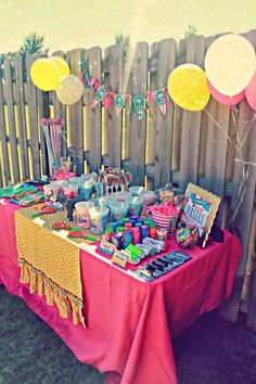 "Party Favor / ""Prize"" Table at a Circus Party with So Many Cute Ideas via Kara's Party Ideas 