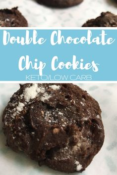 """Jump to Recipe Print Recipe TweetEmail TweetEmail Share the post """"Double Chocolate Chip Cookies {keto/low carb}"""" FacebookPinterestTwitterEmail Pinterest can be a fantastic resource for recipes ideas. Lately, I've been searching for recipes that I can tweak to make keto/low carb. With the holidays quickly approaching I know I'm going to want cookies to take tocontinue reading..."""