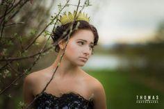 Resplendent and Alone - Alexandra | Gothic Fairytale photo shoot. Photographer Thomas Toth, Hair by Latrina Ollie, Makeup Bas Hollander