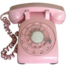Vintage Pink Rotary Dial Telephone (5.435 RUB) ❤ liked on Polyvore featuring home, home decor, decor, inspirational home decor and pink home decor