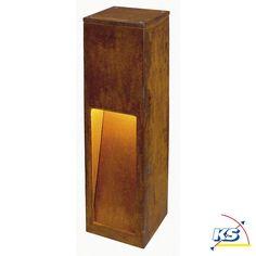 LED Außenleuchte RUSTY SLOT Standleuchte, SMD LED, 3000K, stahl gerostet, höhe 50cm