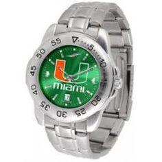 Miami Hurricanes Sport Steel Watch - AnoChrome Dial