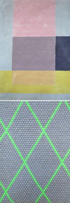 tapijten van Scholten & Baijings voor Hay http://decdesignecasa.blogspot.it