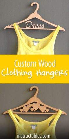Customize your closet with these fun laser-cut clothing hangers.