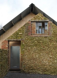 British studio Hugh Strange Architects has transformed an agricultural barn in Somerset, England, into a family archive building by inserting a new timber structure within the dilapidated brick and stone shell. Contemporary Architecture, Architecture Details, Interior Architecture, Interior And Exterior, Gothic Architecture, Classical Architecture, Interior Design, Le Ranch, External Cladding