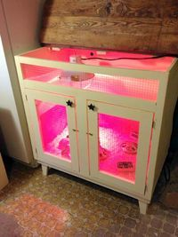 Awesome idea for chick brooder! Re-purpose old cabinet to go in coop @Tadd Gunther Gunther Brensike