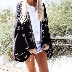 Photography – Marnie Stella Model/Styling – Helen Janneson Bense Location – Sorrento beach, Western Australia  Outfit Details Square Top – Ruestiic Shorts Kimono Class…