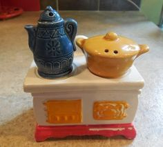30 40S VINTAGE SALT and pepper shakers and sugar bowl by KANDYLEES