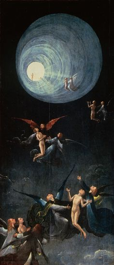 Hieronymus Bosch. Paradise, Ascent of the Blessed. 1490.