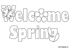 Wele Spring Coloring Page